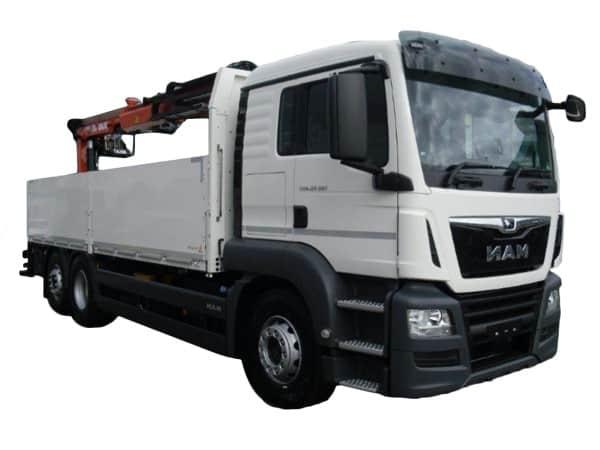 Baustoffwagen 26t mit Kran