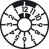 Das Logo der HU Plakette in schwarz